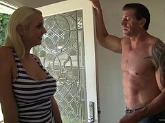 Mandy Sweet is fucked by her masseuse after an oil massage