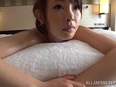 Saya Niiyama enjoys massage and gets her Japanese cunt slammed