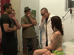 Busty patient gets her holes examined by doctor and random guys