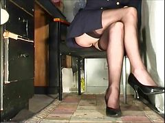 Susanna Francessca  stockings upskirt compilation