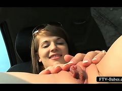 Teenage hot babe rubbing clit and fingering cunt