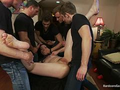 Sexy Sarah Shevon gets gangbanged by her neighbors