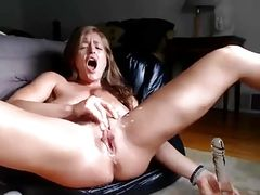 Hot Sexy Milf Fucking Her Holes and Squirting part2