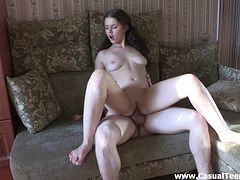 Sexy Nika kisses her boyfriend and rides his big cock