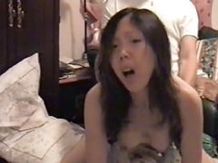 Asian Chen fucked at home while parents are out