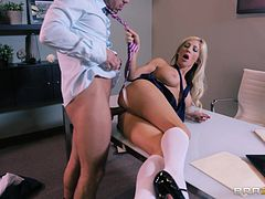 Tasha Reign has anal sex with her well hung doctor