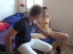 Two amateur girls have sex in public - czech girls