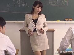 Hot ass japanese teacher Kimika Ichijou is in for a serious banging