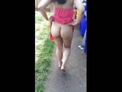 Black Woman Flashes her Ass